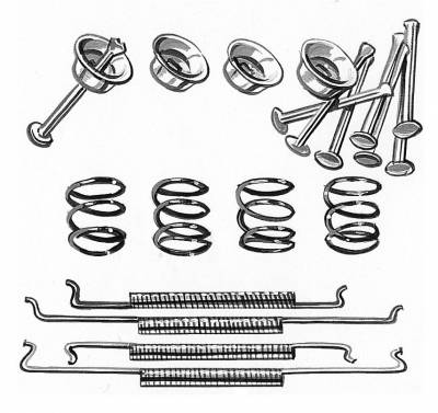 BRAKE SYSTEM - Brake Shoes & Springs - 113-698-002A