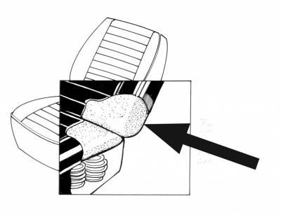 Seat Covers & Padding - Front Seat Pads (Sedan/Convertible) - 141-1968-FB