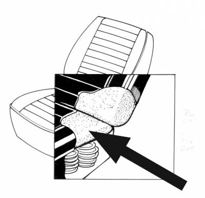 Seat Covers & Padding - Front Seat Pads (Sedan/Convertible) - 141-046-L/R