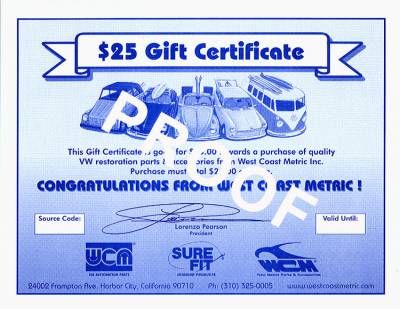 GIFT CERTIFICATES - Gift Certificates - GC-25
