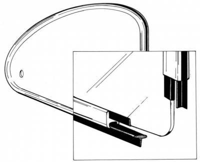 EXTERIOR - Quarter Window Popout Parts - 113-133A
