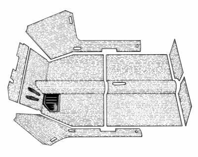 INTERIOR - Carpet Kits & Floor Mats - 311-7374A-BK-C