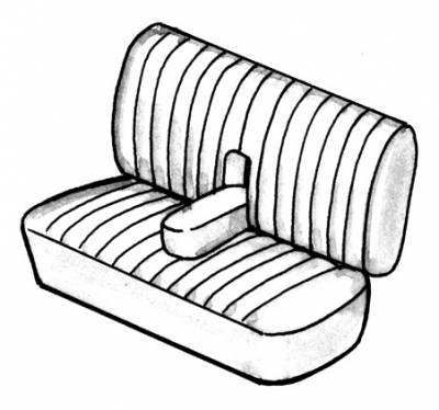 Seat Covers & Padding - Bus/Type 3 Rear Seat Covers (Smooth) - 311-809V-WHS