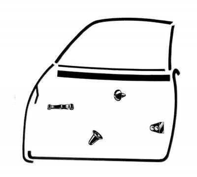 EXTERIOR - Door Rubber/Plastic - 143-019A