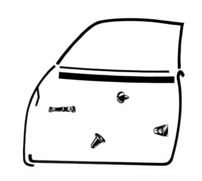 EXTERIOR - Door Rubber/Plastic - 143-019C