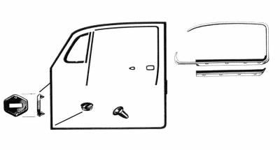 EXTERIOR - Door Rubber/Plastic - 111-0652