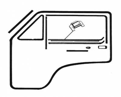 EXTERIOR - Door Rubber/Plastic - 253-0680V