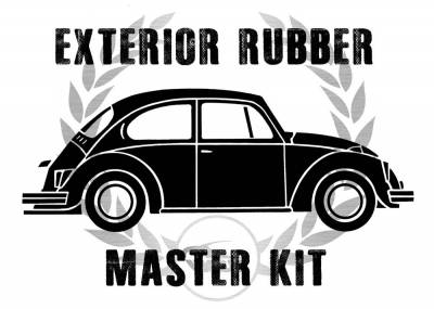 Complete Exterior Rubber Master Kits - Bug Sedan - MK-111-002AP