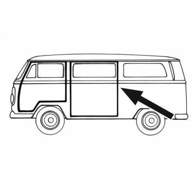EXTERIOR - Door Rubber/Plastic - 214-791B-L