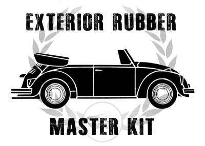 Complete Exterior Rubber Master Kits - Bug Convertible - MK-151-017C
