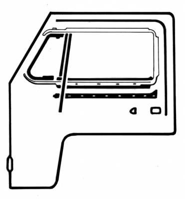 EXTERIOR - Door Rubber/Plastic - 211-043D