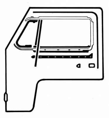 EXTERIOR - Door Rubber/Plastic - 211-045D