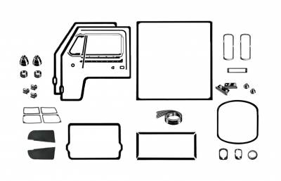EXTERIOR - Body Rubber & Plastic - 211-044D