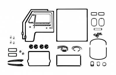 EXTERIOR - Body Rubber & Plastic - 211-040D
