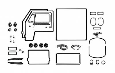 EXTERIOR - Body Rubber & Plastic - 211-041D