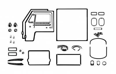 EXTERIOR - Body Rubber & Plastic - 211-042D