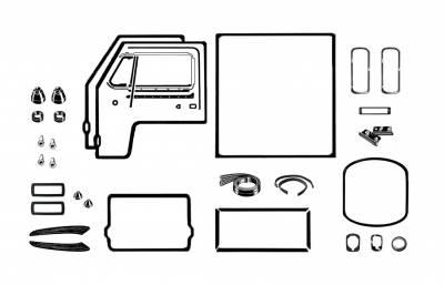 EXTERIOR - Body Rubber & Plastic - 211-043D