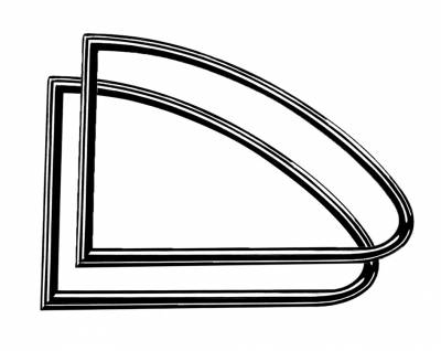 EXTERIOR - Quarter Window Parts - 143-018B
