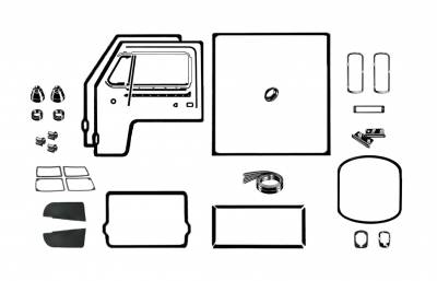 EXTERIOR - Body Rubber & Plastic - 211-045D