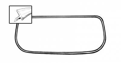 Window Rubber - Window Rubber Metal Molding - 143-355A