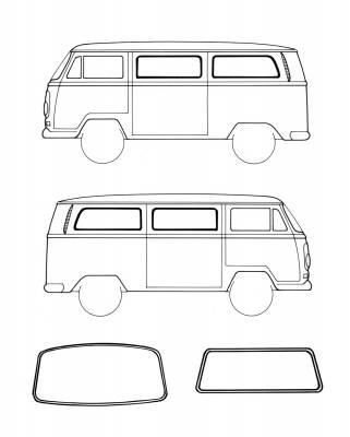 Window Rubber - American Style Window Rubber Kits - 211-039A