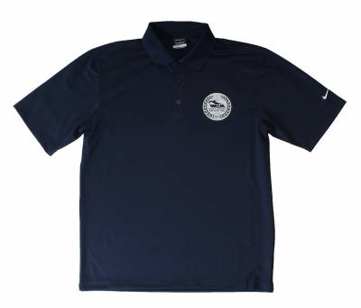 REPAIR BOOKS, STICKERS & T-SHIRTS - T-Shirts - POLO-L POLO SHIRT, LARGE, NAVY BLUE NIKE DRI-FIT WITH SILVER LOGO (Limited Edition)