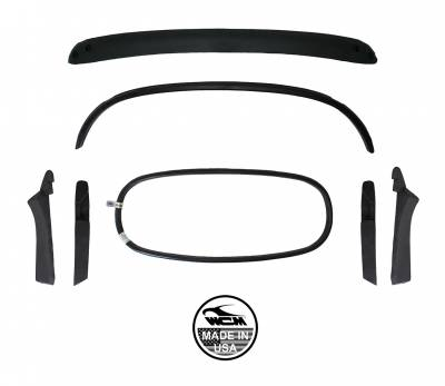 CONVERTIBLE TOP PARTS - Top Bows & Rear Window Inserts - 151-007