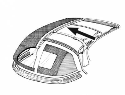 INTERIOR - Headliners, Sunvisors, & Rear Shelf Covers - 141-048V-BK