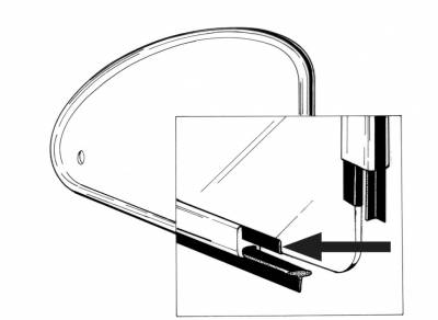 EXTERIOR - Quarter Window Parts - 113-133A
