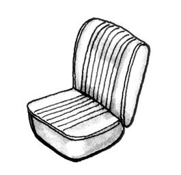 Seat Covers & Padding - Bus/Type 3 Front Seat Covers (Basket & Squareweave) - 221-751V-WH