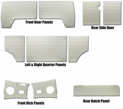 INTERIOR - Door Panels / Rear Panels & Accessories (Bus) - 211-006-L/R-WH