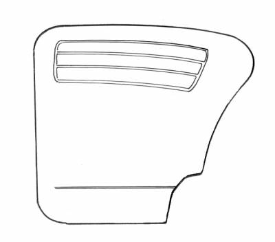 INTERIOR - Door Panels, Quarter Panels & Accessories - 111-014-L/R-BK